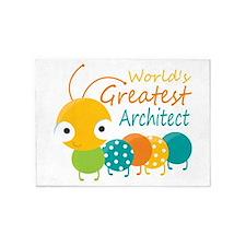 World's Greatest Architect 5'x7'Area Rug