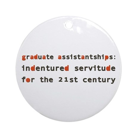 Graduate Assistantships Ornament (Round)