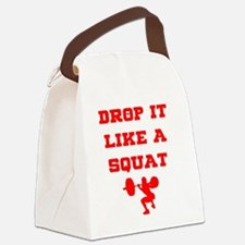 Cute Drop it like a squat Canvas Lunch Bag
