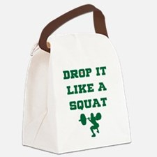 Cool Drop it like a squat Canvas Lunch Bag