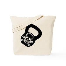 Kettlebell Skull  Tote Bag