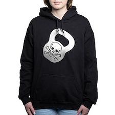 Kettlebell Skull  Women's Hooded Sweatshirt