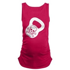 Kettlebell Skull  Maternity Tank Top