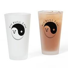 Pit Bull Zen Drinking Glass