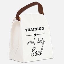 Train, mind body & soul Canvas Lunch Bag