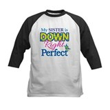 Down syndrome sister Baseball Jersey