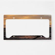 Lake Erie Sunset  License Plate Holder