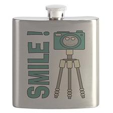 Funny photographer Smile design Flask