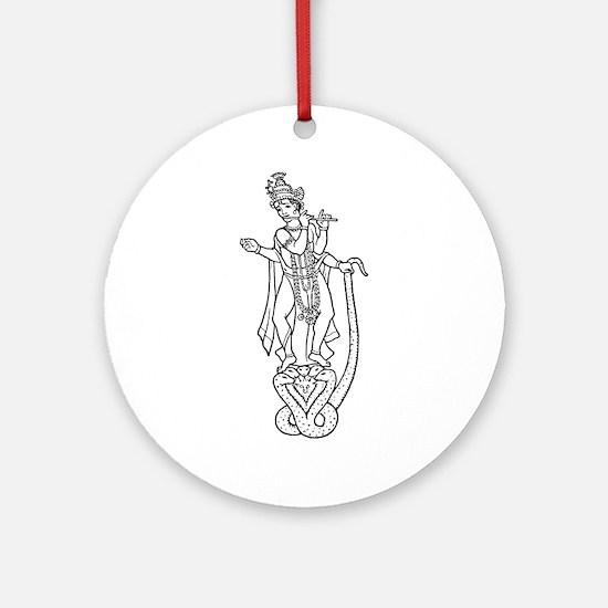 Krishna - Hindu Diety Ornament (Round)