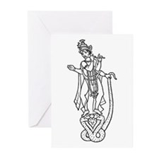 Krishna - Hindu Diety Greeting Cards (Pk of 10