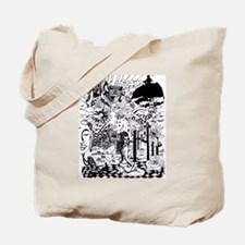 Funny Boombox Tote Bag