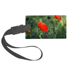 Red Garden Flower Luggage Tag