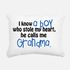 I know a boy Rectangular Canvas Pillow