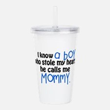 I know a boy Acrylic Double-wall Tumbler