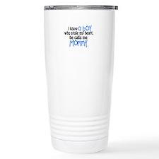 I know a boy Travel Mug