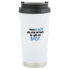 I know a boy Travel Mug