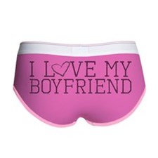 Unique I love my boyfriend Women's Boy Brief