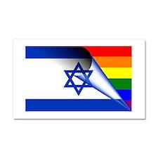 Israel Gay Pride Rainbow Flag Car Magnet 20 x 12