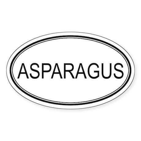 ASPARAGUS (oval) Oval Sticker
