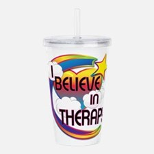 I Believe In Therapy Cute Believer Design Acrylic