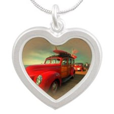 Curtis Fry Classic Woodies Silver Heart Necklace