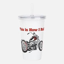 motorcycle.png Acrylic Double-wall Tumbler
