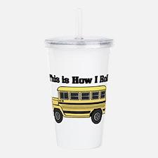 short yellow bus.png Acrylic Double-wall Tumbler