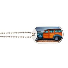 Classic Surfing Woody Dog Tags