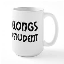 Heart Belongs Grad Student Mug