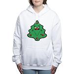 cute happy christmas tree.png Women's Hooded Sweat