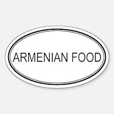 ARMENIAN FOOD (oval) Oval Decal
