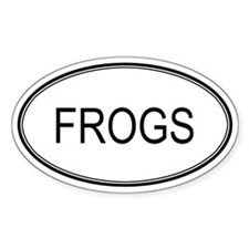 FROGS (oval) Oval Decal