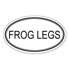 FROG LEGS (oval) Oval Decal