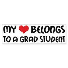 Heart Belongs Grad Student Bumper Bumper Sticker