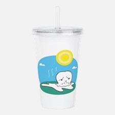 melting snowman.png Acrylic Double-wall Tumbler