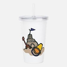 sand castle.png Acrylic Double-wall Tumbler