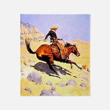 The Cowboy Throw Blanket