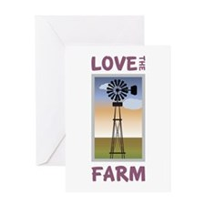 Love The Farm Greeting Cards