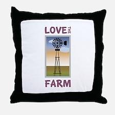 Love The Farm Throw Pillow