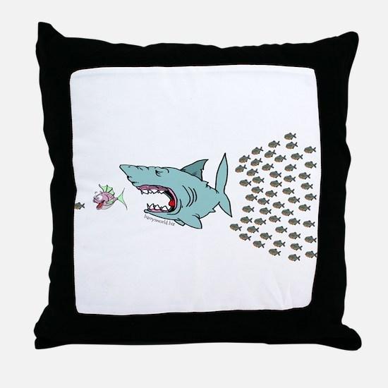 Bigger Fish Throw Pillow