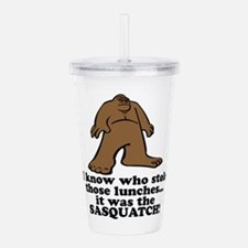 sasquatch stole lunches.png Acrylic Double-wall Tu