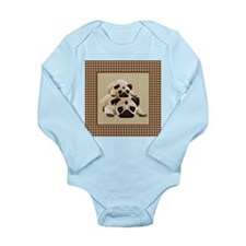 Pugs on Brown Houndsto Baby Suit