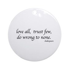 Shakespeare's quote Ornament (Round)