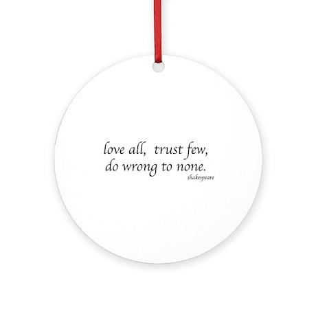 Shakespeare's quote Ornament (Round)