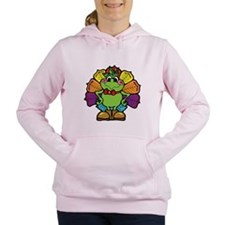 turkey frog.png Women's Hooded Sweatshirt