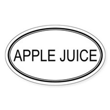 APPLE JUICE (oval) Oval Decal