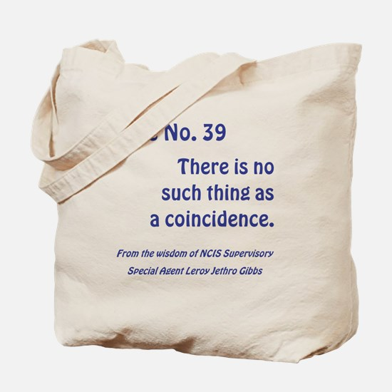 RULE NO. 39 Tote Bag