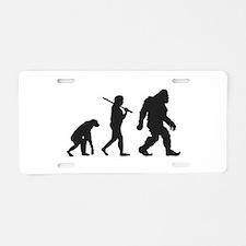 Evolution of Bigfoot Aluminum License Plate