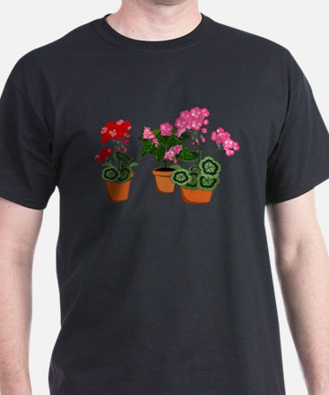 Planters of Mixed Geraniums T-Shirt