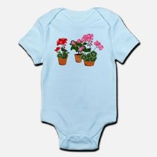 Planters of Mixed Geraniums Body Suit